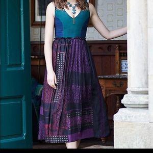 Anthropologie Niki Mahajan montage dress